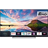 Toshiba 55U5863DB 55-Inch Smart 4K Ultra-HD HDR LED TV with Freeview Play- Black/Silver (2018 Model)