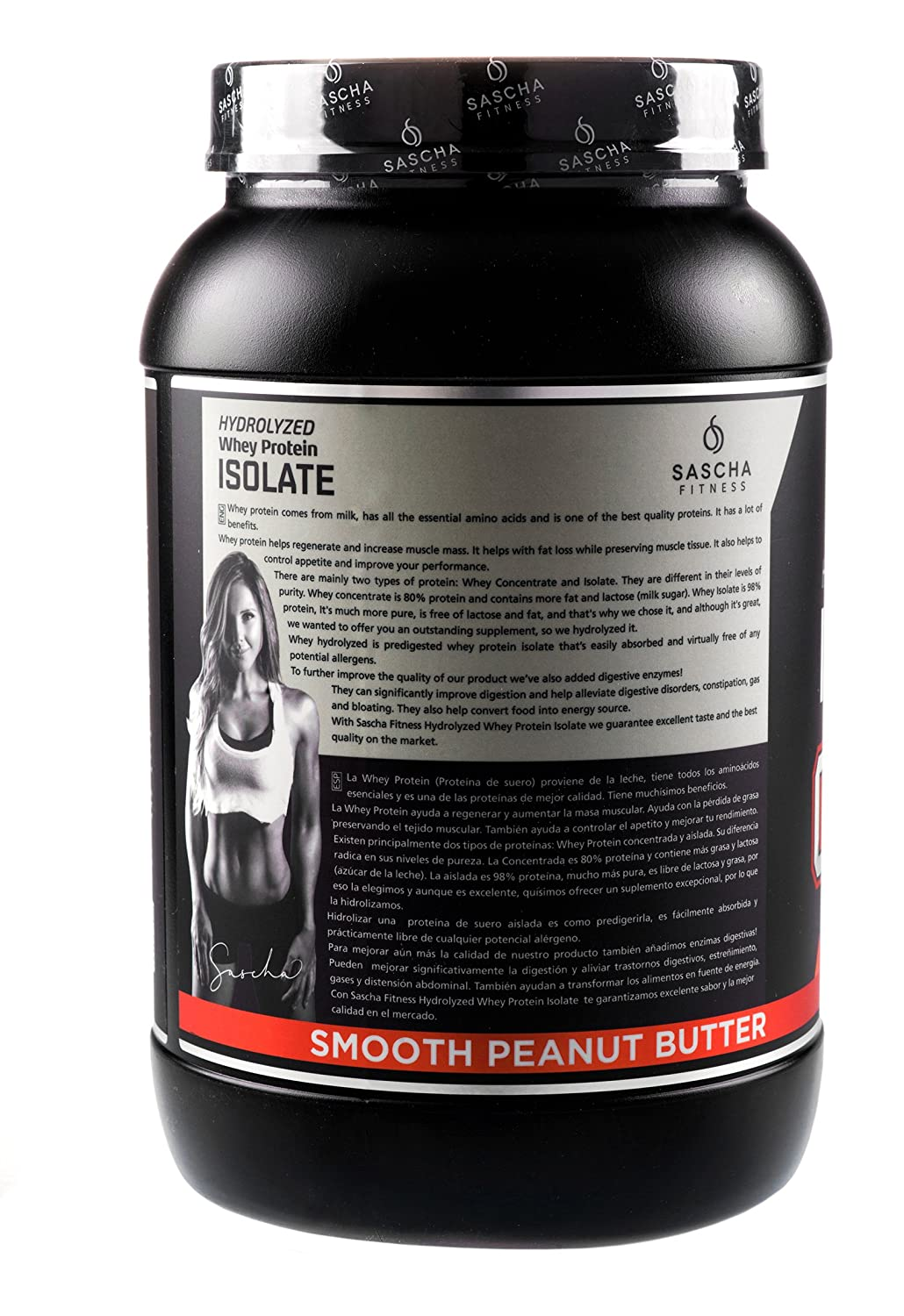 Amazon.com: Sascha Fitness Hydrolyzed Whey Protein Isolate,100% Grass-Fed (2 Pounds, Peanut Butter): Health & Personal Care