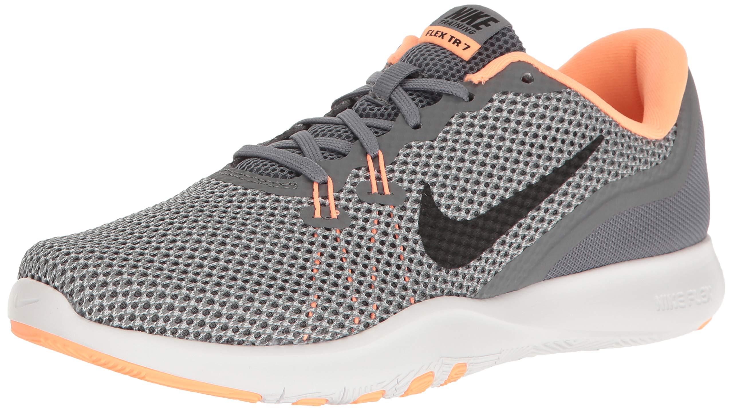 00a16824e1694 NIKE Women's Flex 7 Cross Training Shoe, Cool Grey/Black/Sunset Glow, 6  B(M) US