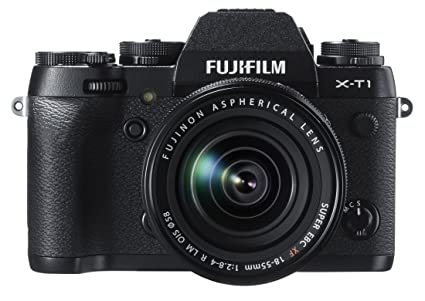 Fujifilm X-T1 16 MP Compact System Camera with 3.0-Inch LCD and XF 18-55mm F2.8-4.0 Lens Mirrorless System Cameras at amazon