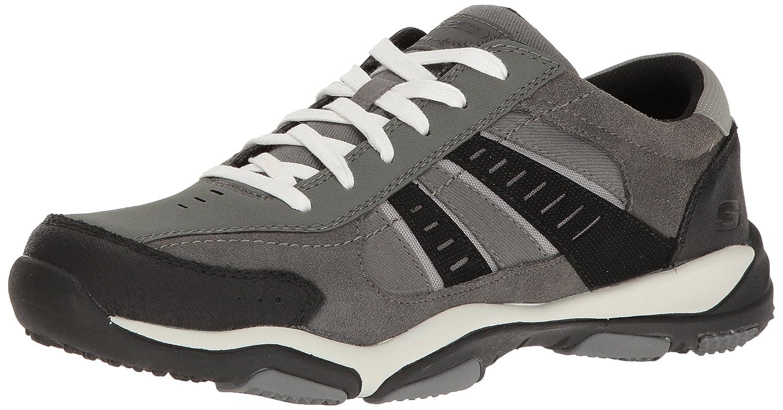 Skechers Larson Nerick, Baskets Basses Homme 14 D(M) D(M) D(M) US|Charcoal Black Suede 12b606