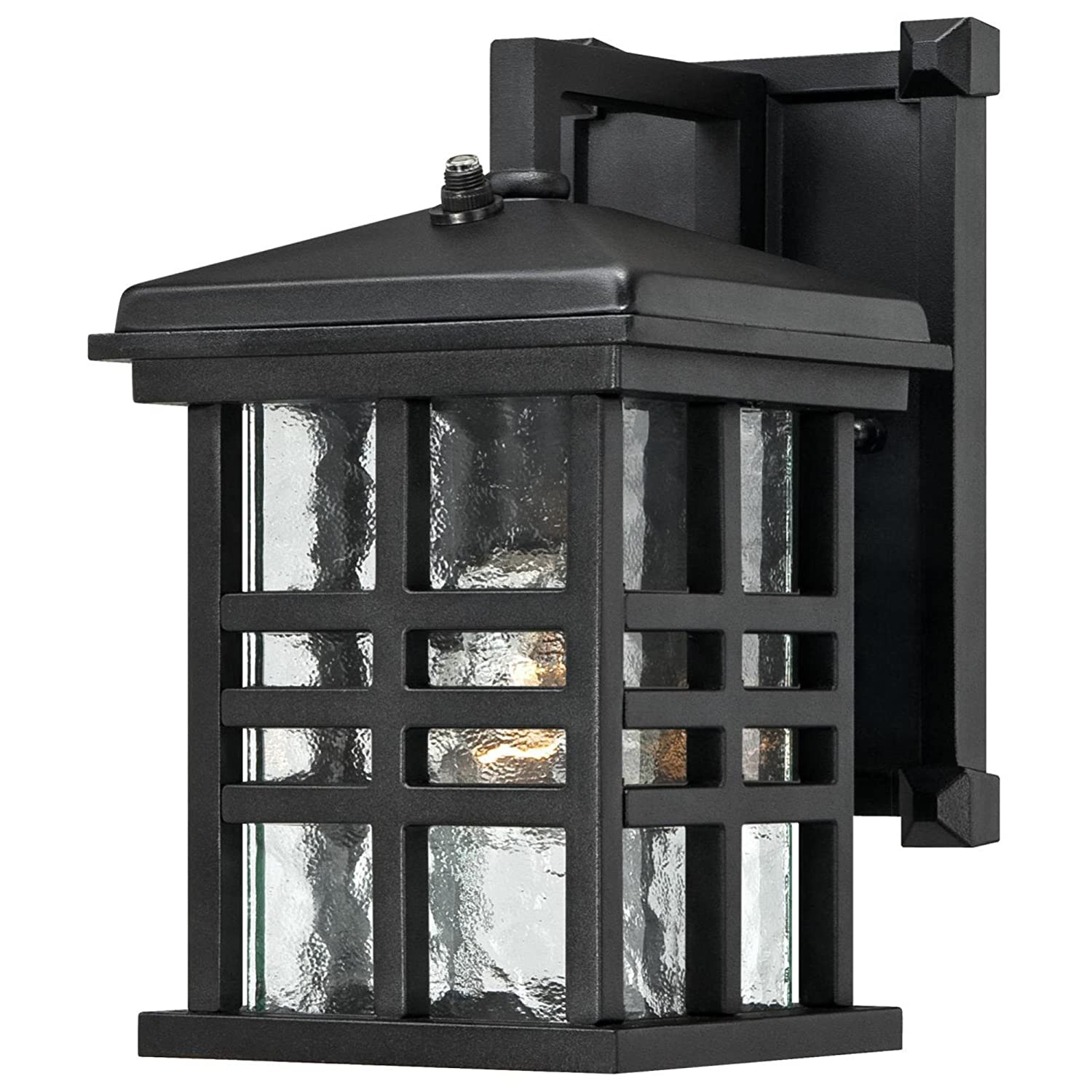 Westinghouse Lighting Westinghouse 6204500 Caliste 1 Light Outdoor Wall Lantern with Dusk to Dawn Sensor, Textured Black
