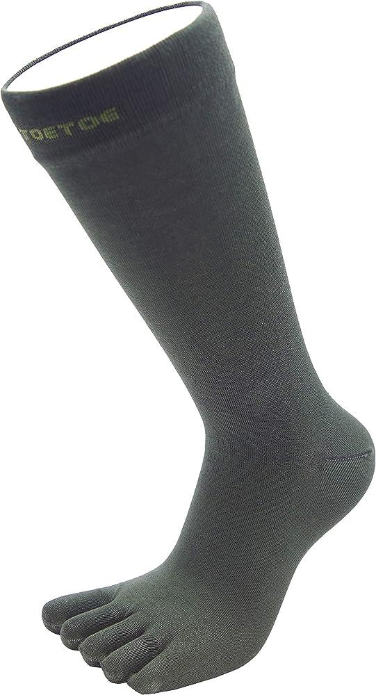 TOETOE Men Plain Toe Socks M 7.5-13.5, Green ESSENTIAL