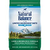 Natural Balance L.I.D. Limited Ingredient Diets Dry Dog Food for Puppies, Lamb & Brown Rice Formula, 4.5 Pounds