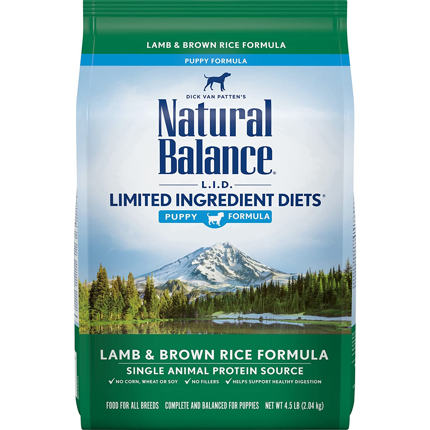 Natural Balance Puppy Formula L.I.D. Limited Ingredient Diets Dry Dog Food, Lamb & Brown Rice Formula, 4.5-Pound