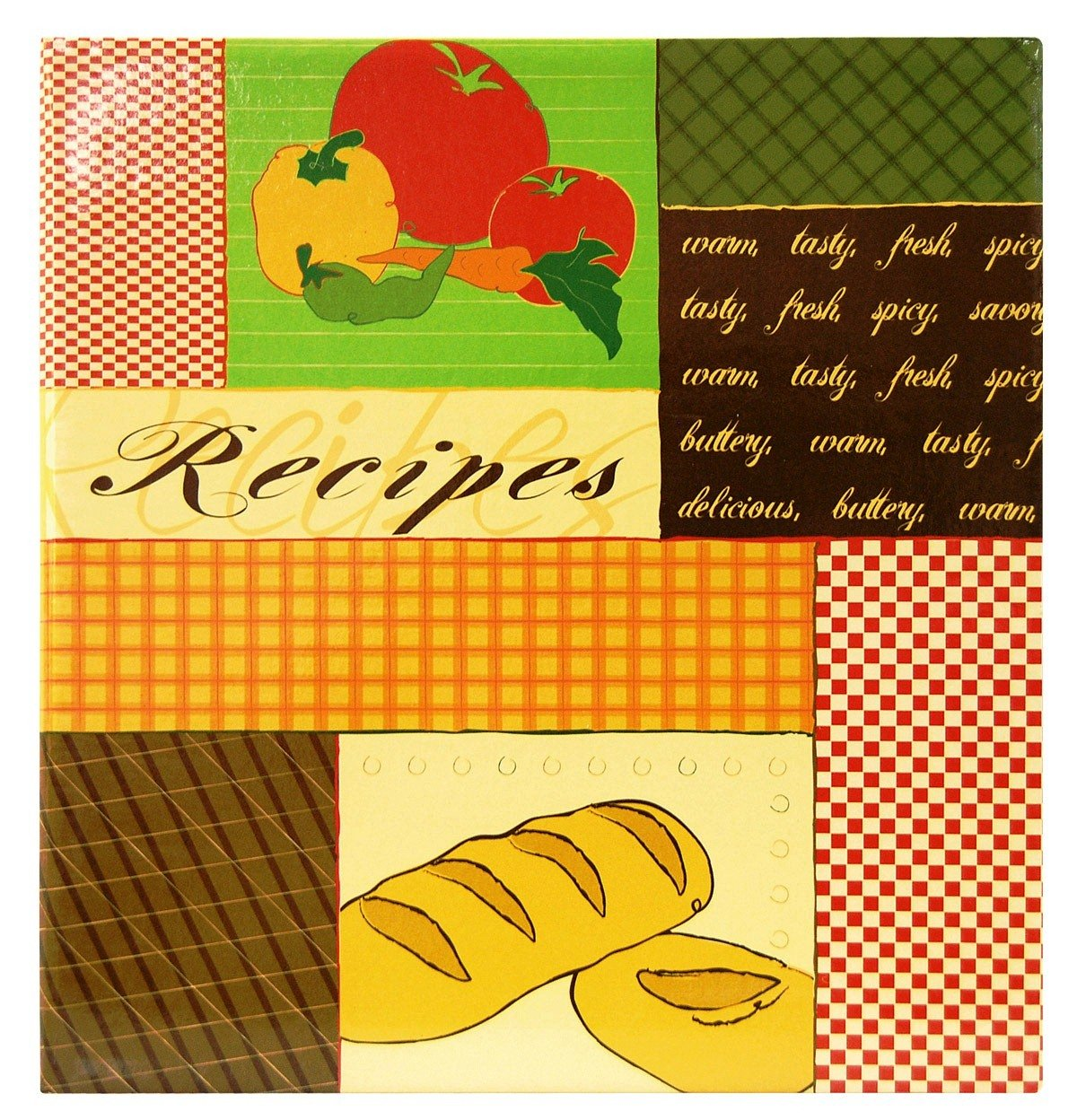 MBI 8.5x11 Inch 3-Ring Scrapbook Kit with 5x7 Inch Recipe Cards, Recipes (881851)
