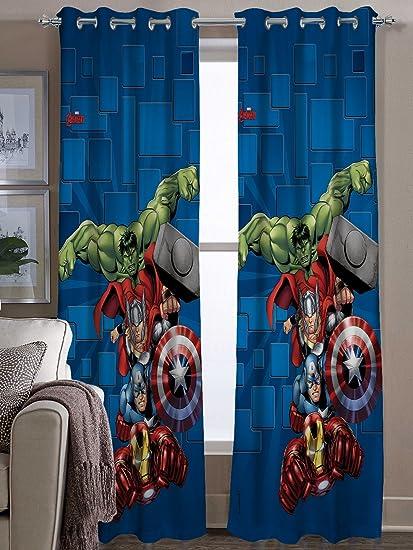 Marvel- Athom Trendz- Avengers- Kids- Door Curtain- Set of Two- 48
