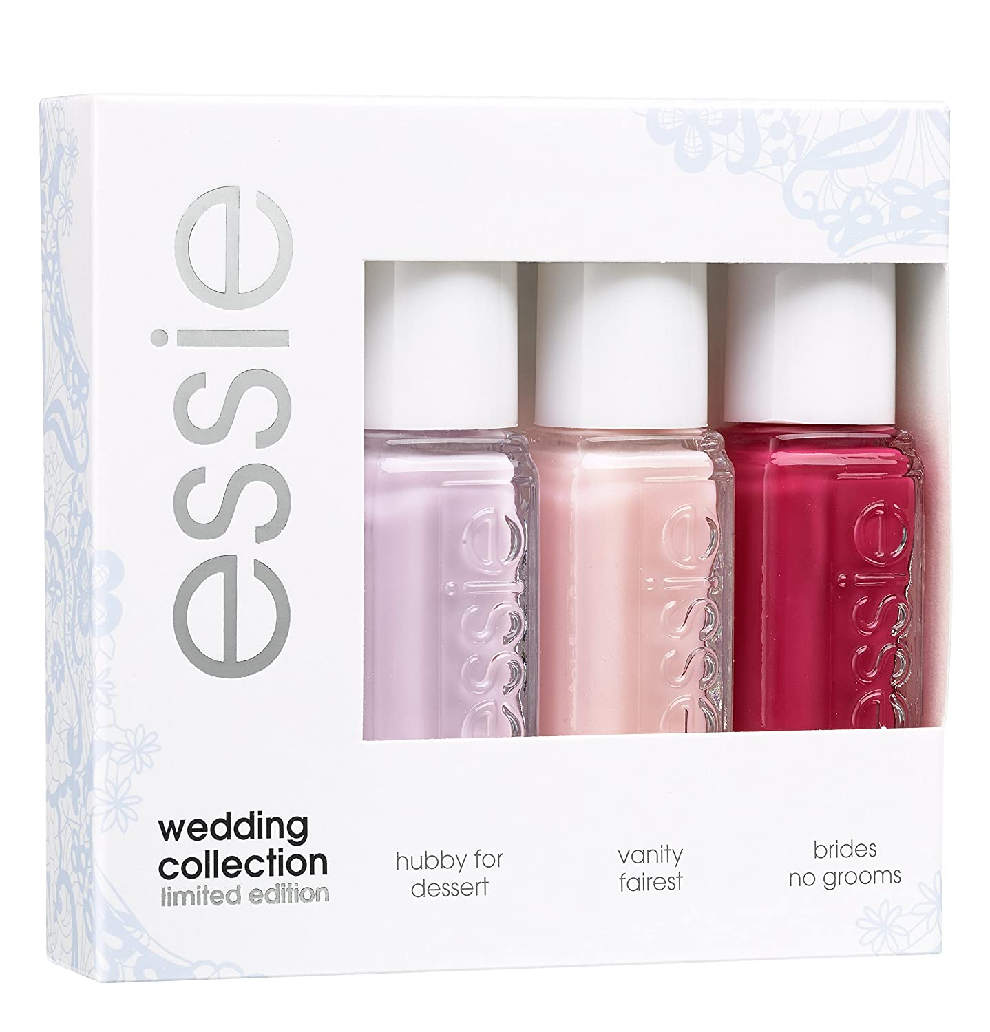 Essie Nail Polish Mini Kit Wedding Collection 3x5 millileter: Amazon ...