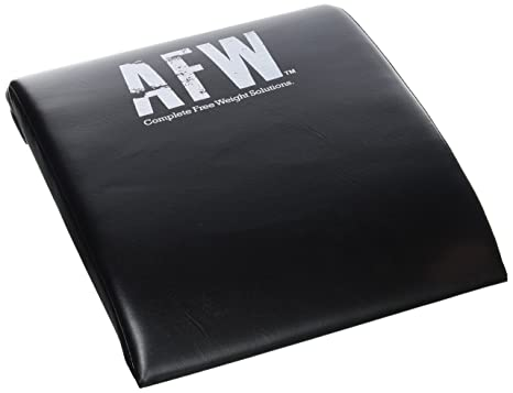 AFW 106013 106013-Colchoneta para Abdominales, Color, Talla M, Hombres, Negro, U