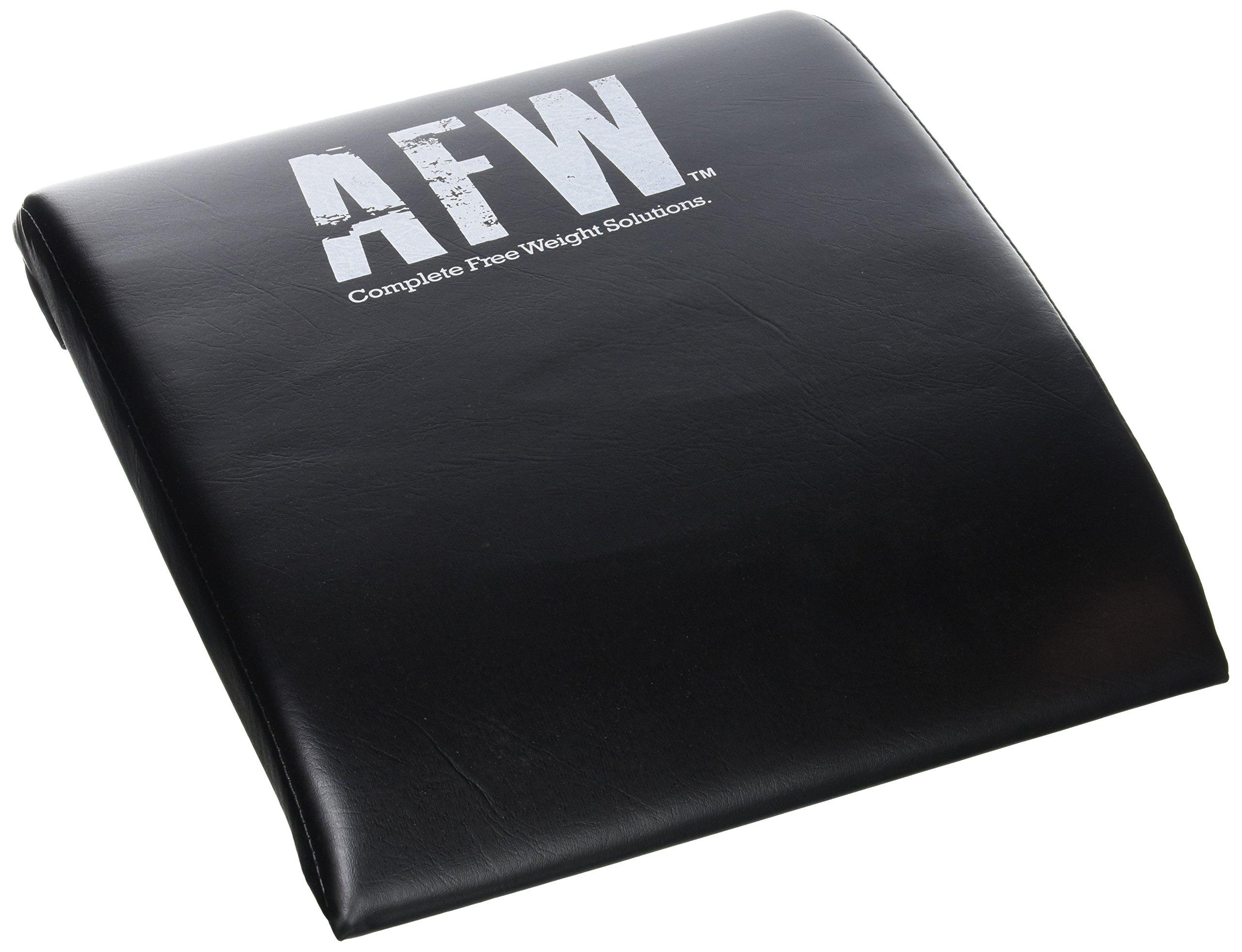 AFW 106013 106013-Colchoneta para Abdominales, Color, Talla M, Hombres, Negro