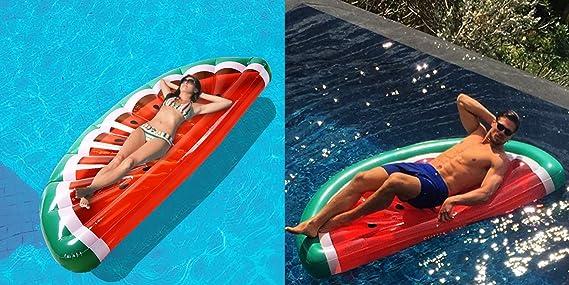 Vercrown Flotador para Piscina de La sandía Balsa Inflable, Cama ...