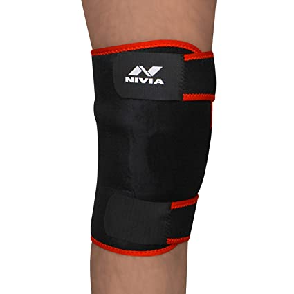 05c7bc31b394 Buy Nivia Adjustable Knee Support (Black) Online at Low Prices in India -  Amazon.in