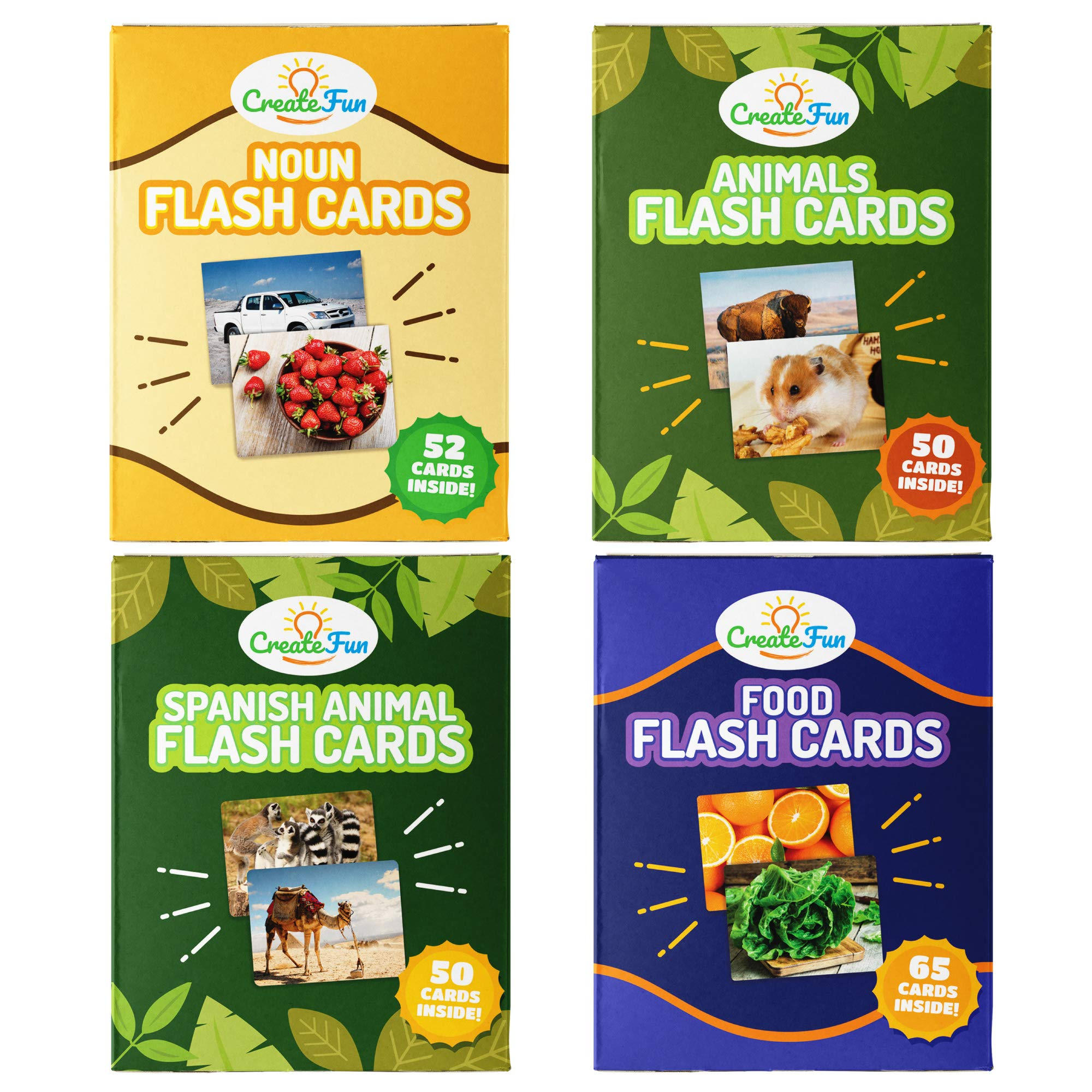 Noun Flash Cards Vocabulary Bundle | 200 Educational Language Builder First Word Photo Cards | with Learning Games for Toddlers, Preschool Teachers, Speech Therapy Materials and ESL Teaching Materials