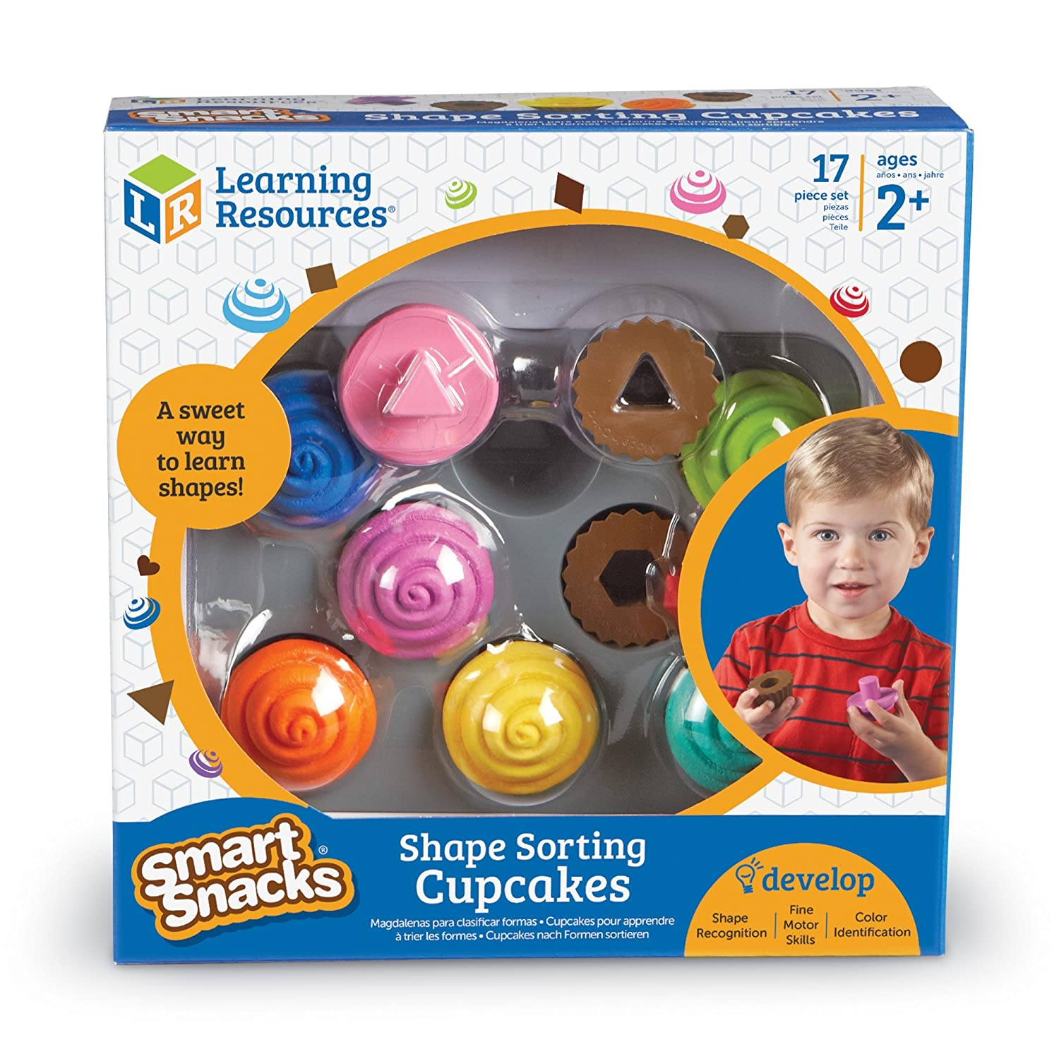 Amazon Learning Resources Smart Snacks Shape Sorting Cupcakes