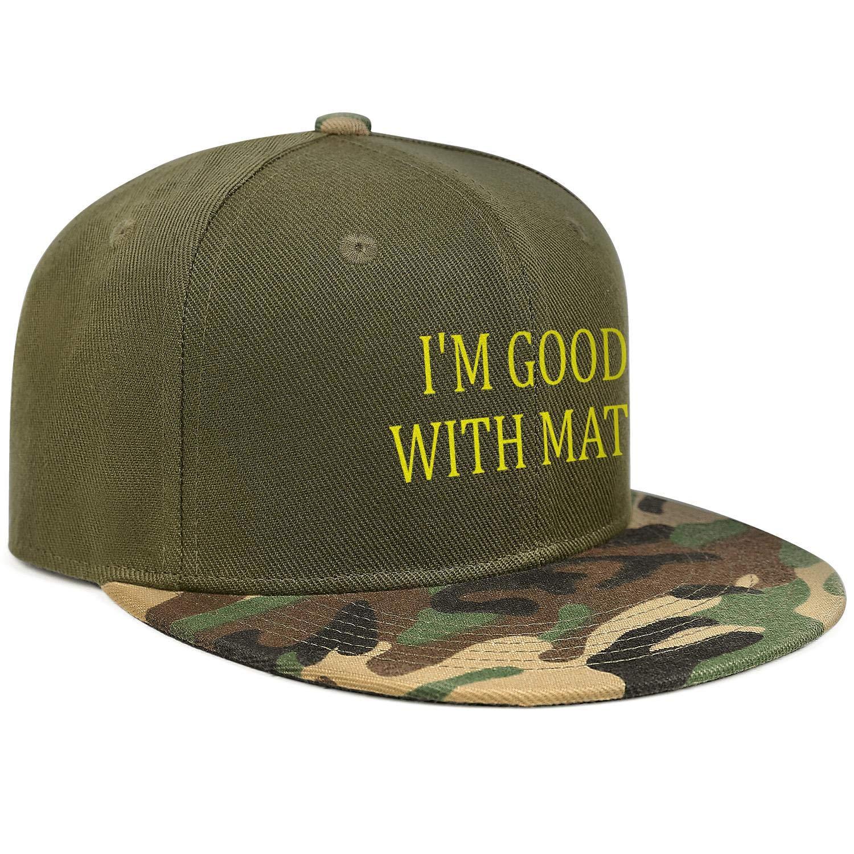 Newpz Im Good with MATHUnisexSimple Hip Hop Cap Camouflage Snapback Cap