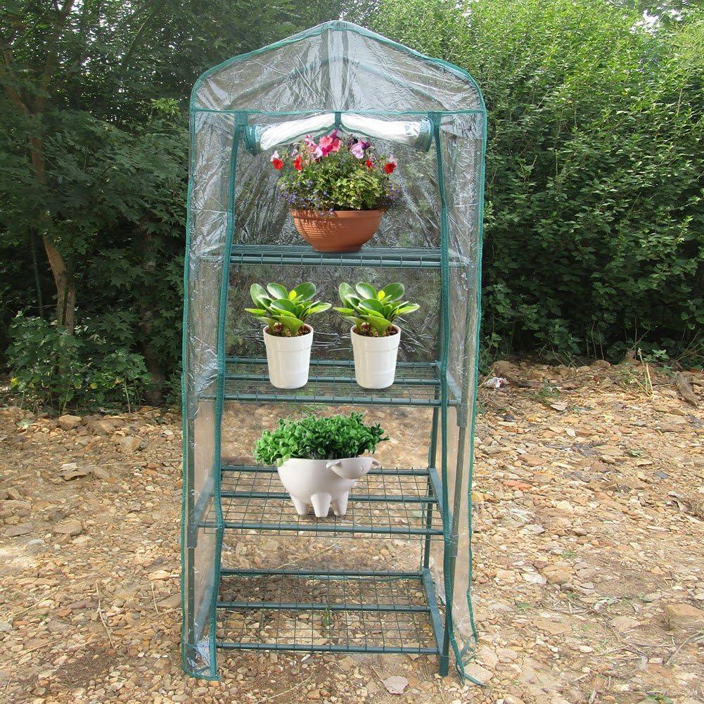 69 x 49 x 160 cm Wosume Wocume Pflanzen Gew/ächshaus Garten Gew/ächshaus Warme Gew/ächshausblumen Gartenarbeit im Freien