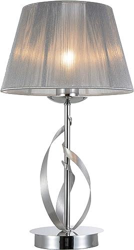 Interfan Lampada Da Tavolo Modello Fiocco Ii Classica Con Paralume Cromata 25 X 46 Cm Amazon It Illuminazione