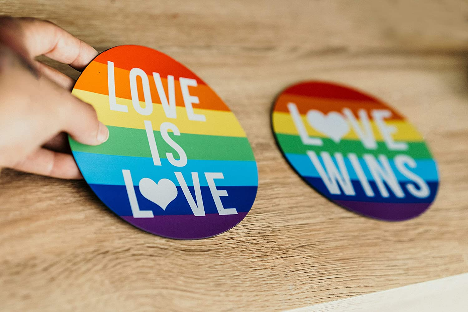 refrigerators or to Show Your Equality Rights as an Ally Gift 2-Pack Magnets for Gay Pride Magnetic Stickers. Large 5 inch Rainbow Flag for car Bumpers fridges Use for Lesbian Marriages