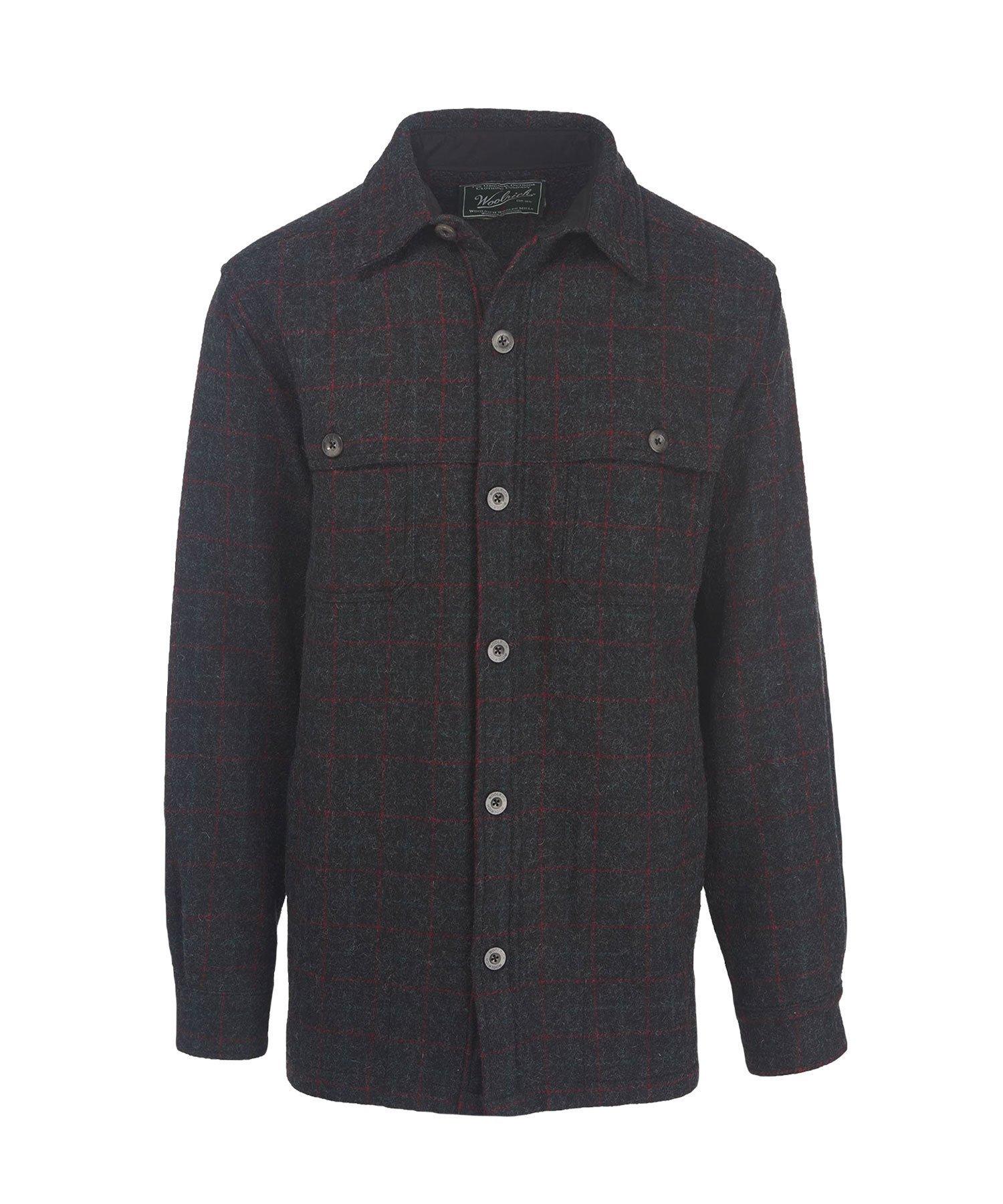 Woolrich Men's Wool Stag Shirt Jac, MALONE PLAID (CCL) (Black), Size XL