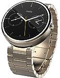 モトローラ Moto 360 Smart Watch スマートウォッチ 腕時計 Android Wear (23ミリ幅ゴールドメタル) [並行輸入品]
