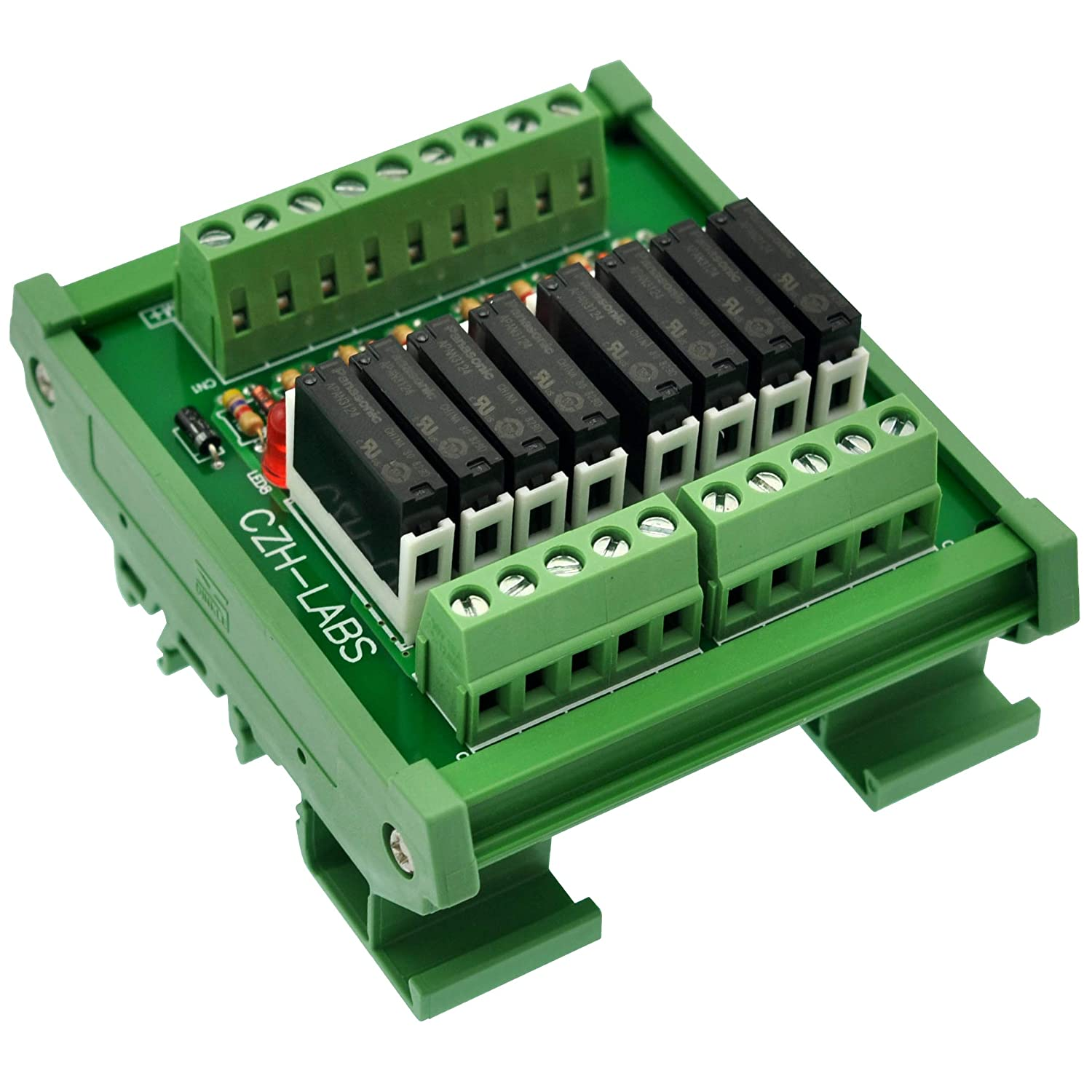 PA1 a-24 V. Electronics-Salon Slim DIN Rail Mount 24 V DC Sp/ültisch//NPN 8 spst-no 5 A Power Relay Modul