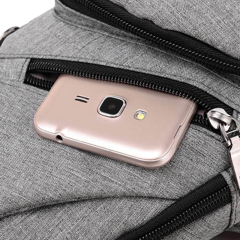 Hombres Casual USB Pechera Lienzo de Carga Bolsas de Mensajero Masculino Hombro del Bolso del Viaje de la Cruz Cuerpo de la Bolsa Chestbags
