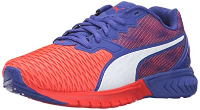 e8ba670a6d16 PUMA Women s Ignite Dual WN s Running Shoe RED Blast Royal Blue ...