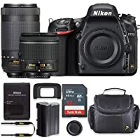 Nikon D750 24.3MP DSLR Camera with AF-P 18-55mm VR Lens & 70-300mm ED Lens Kit + 32 GB Sandisk Memory Card & Deluxe Gadget Case
