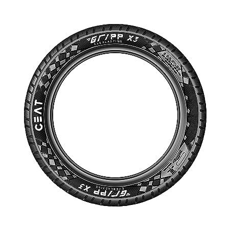Ceat Gripp X3 Tt 2.75-18 48P Tube-Type Bike Tyre, Rear
