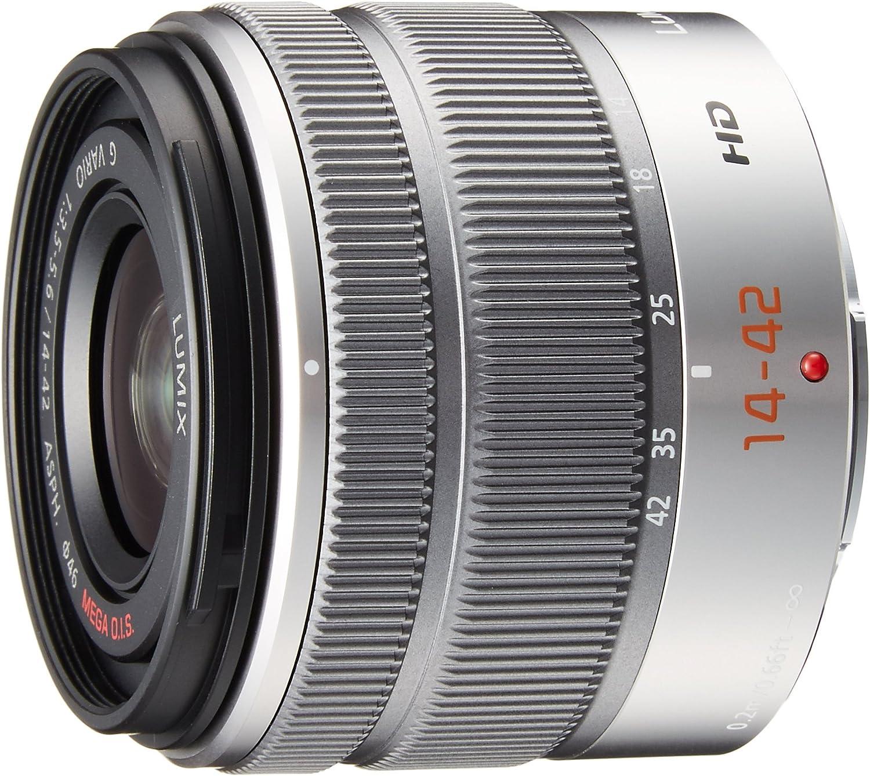 Panasonic LUMIX G Vario 14-42mm / F3.5-5.6 II ASPH. / MEGA O.I.S. Digital Interchangeable Zoom Lens - H-FS1442A - Silver