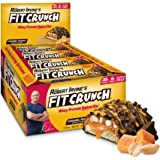 FITCRUNCH Protein Bars   Designed by Robert Irvine   World's Only 6-Layer Baked Bar   Just 6g of Sugar & Soft Cake Core (12 Bars, Caramel Peanut)