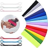 Diademas deportivas para mujer, de algodón, de yoga, elásticas, diademas de fitness, varios colores