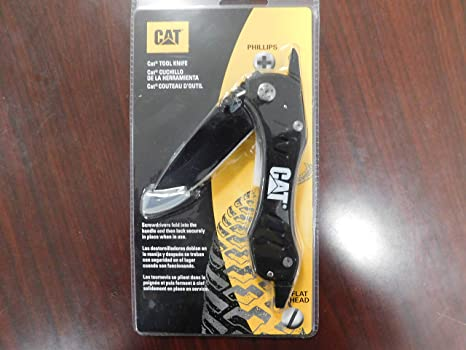 Caterpillar Tool Knife with Phillips & Flat Head Screwdriver, Part ...