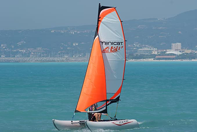 minicatamaran 420 emoción luz peso hinchable vela catamarán ...