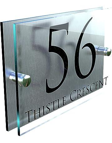 TOILETS Sign Brushed Aluminium Finish 150 x 45mm
