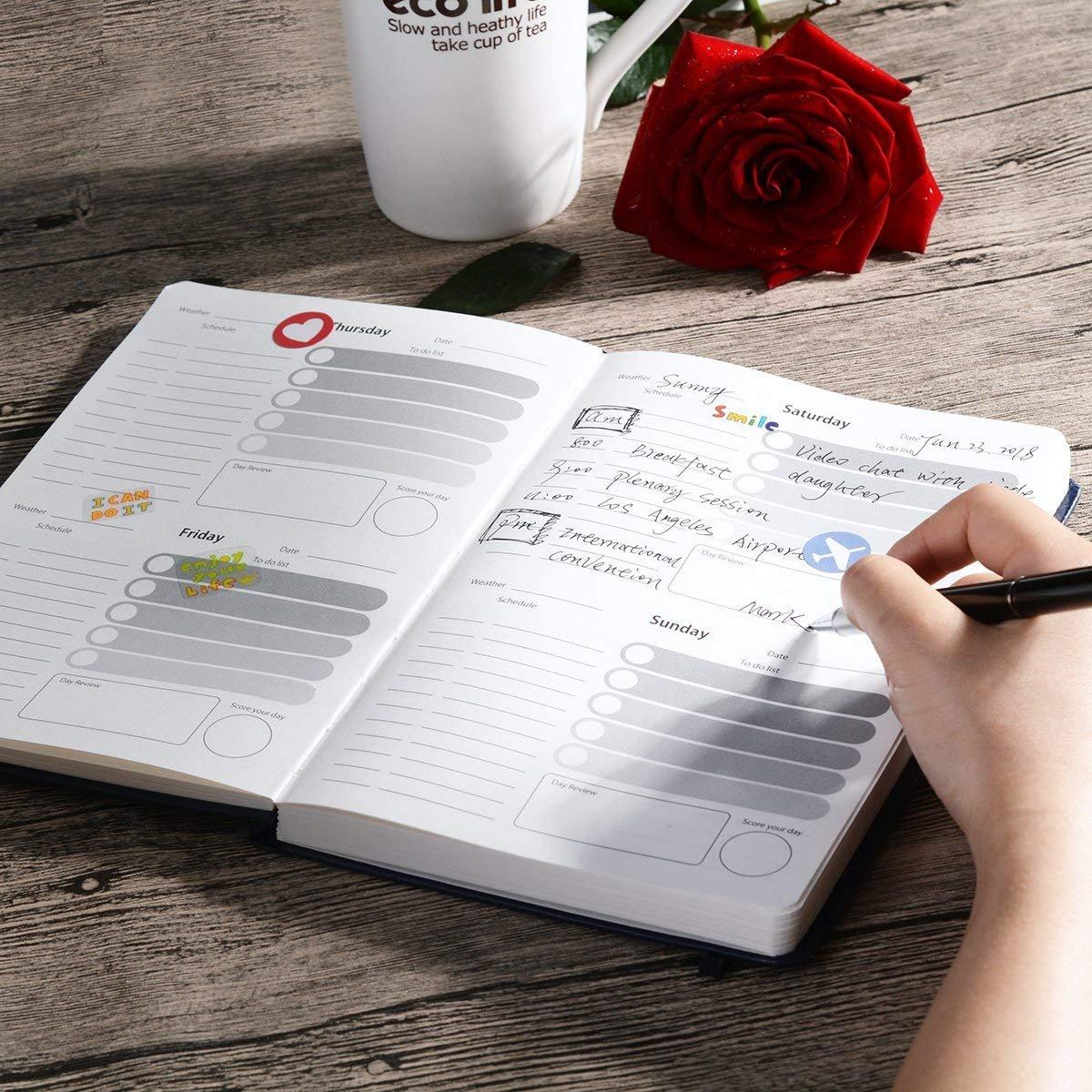 Amazon.com: Planificador, 2019-2020 diario semanal mensual ...