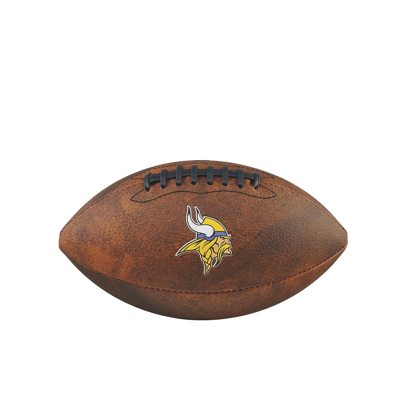 Game Master NFL Minnesota Vikings Junior Wilson Throwback Football, 11-Inch, Brown