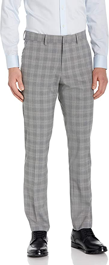 60s – 70s Mens Bell Bottom Jeans, Flares, Disco Pants Kenneth Cole REACTION Mens Stretch Traditional Plaid Slim Fit Flat Front Flex Waistband Dress Pant $44.76 AT vintagedancer.com