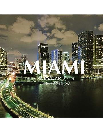 Miami Calendar 2019: 16 Month Calendar
