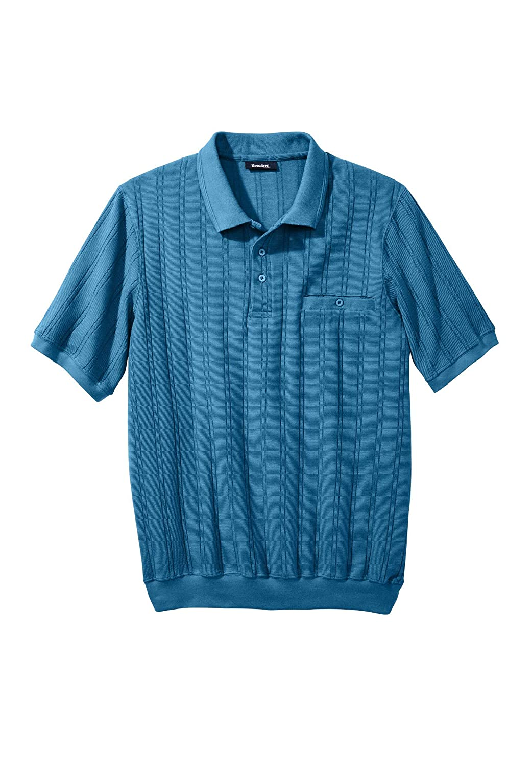 Mens Vintage Shirts – Casual, Dress, T-shirts, Polos  Big & Tall Banded Bottom Textured Polo Shirt KingSize Mens $43.79 AT vintagedancer.com