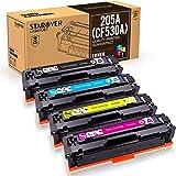 STAROVER 4 x 205A (CF530A CF531A CF532A CF533A) Compatibile Colori Toner Sostituzione Per HP Color Laserjet M154A M154NW M180 180N M181 M181FW (1 Nero + 1 Ciano + 1 Magenta + 1 Giallo)