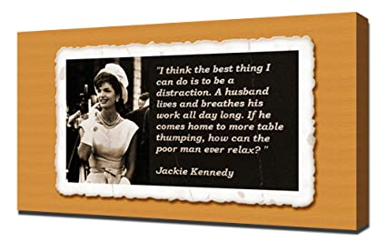 Amazon.com: Jackie Kennedy Quotes 2 - Canvas Art Print ...