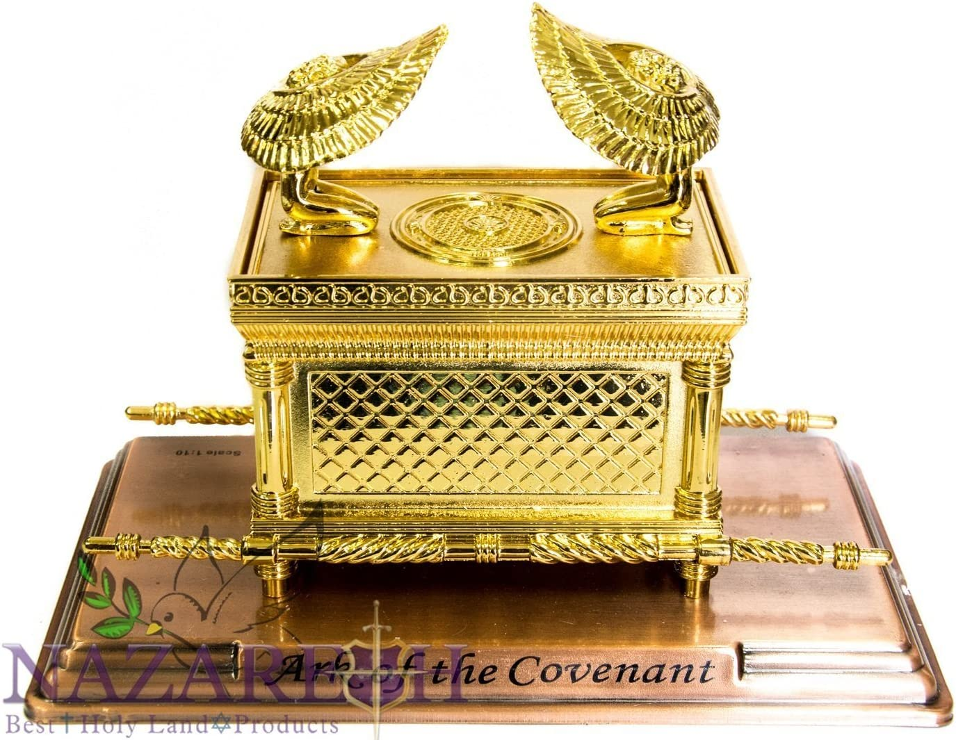 Statue Copper Ark of the Covenant 11 Jewish Testimony Judaica Israel Gift XL
