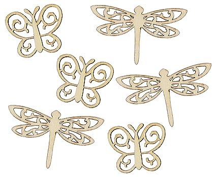 Decoration Wooden MDF Dragonfly Shape 3mm MDF Tags Embellishments Craft