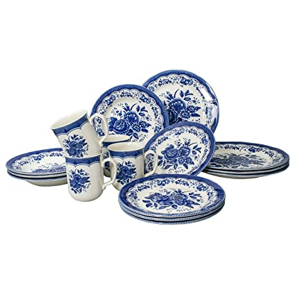 Dependable Johnson Bros England Porcelain Blue And White Willow Plate,set Of 5 Pottery, Porcelain & Glass Pottery