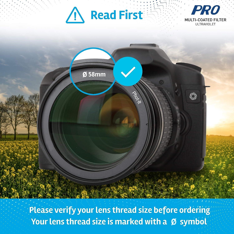 Phot-R 72mm Pro Filtro Polarizzato Multirivestito 12 strato Ultra sottile circolare vite in polarizzata Antipolvere Antigraffio Idrorepellente filtro DSLR