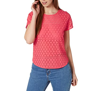 a1beea3c26ca Joules Women s Nadine Broderie Front Jersey Back Top at Amazon Women s  Clothing store