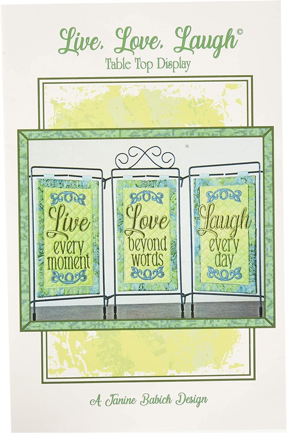 Janine Babich Designs Live Love Laugh Table Top Display Pattern