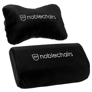 noblechairs Set de Almohadas para Sillas de Juego Epic/Icon / Hero - Negro/Blanco: Amazon.es: Hogar