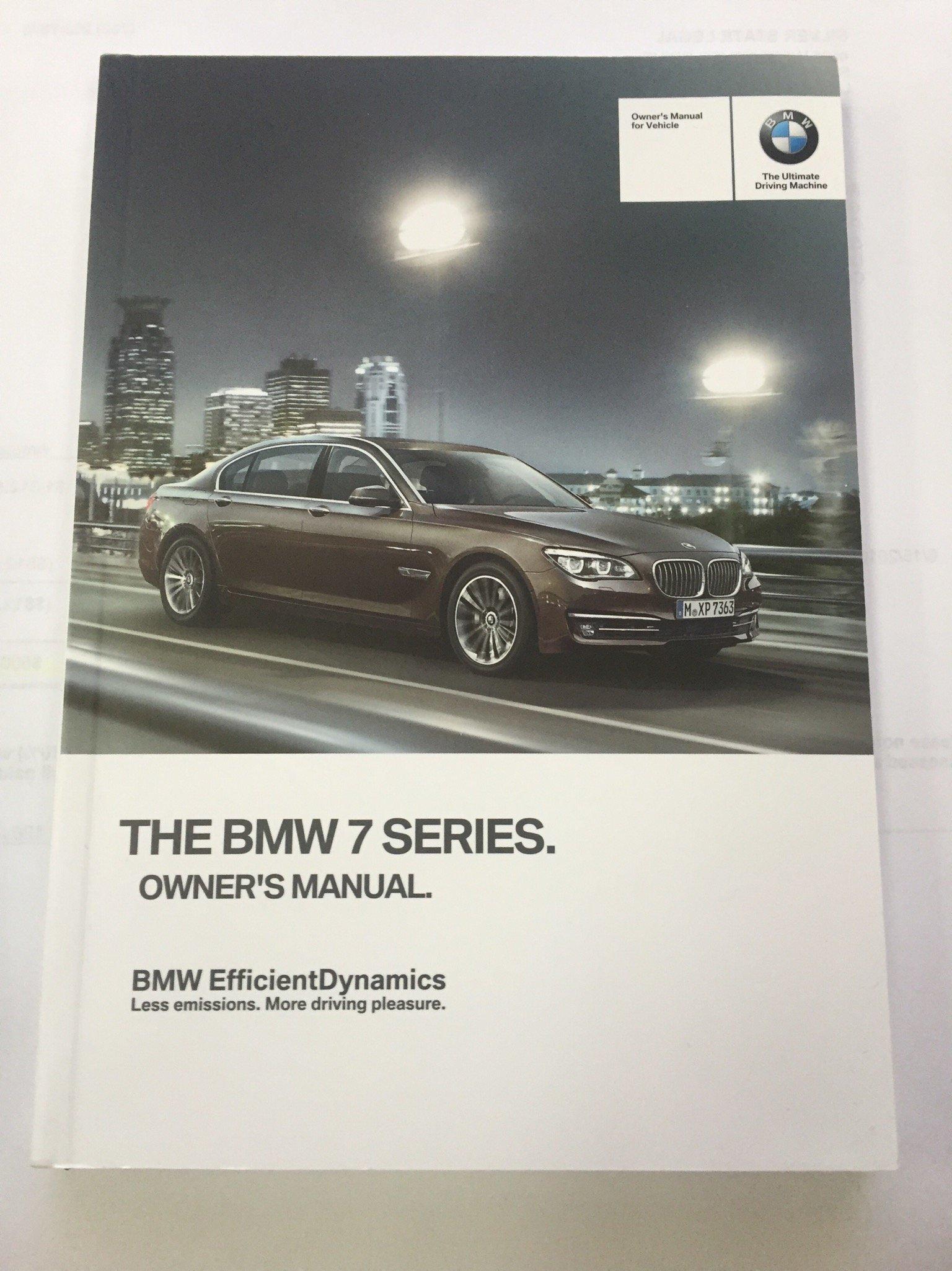 2014 bmw 7 series sedan genuine oem owner s manual for 740i 740li rh amazon  com 2016 bmw 740i owners manual 2016 bmw 740i owners manual